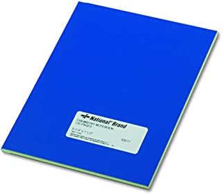 National 43571 Chemistry Notebook, Narrow Rule, 9 1/4 x 7 1/2, Green, 60 Sheets