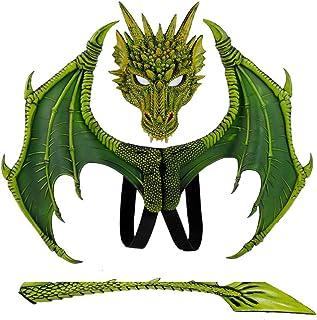 FANGNVREN Halloween Máscara, Juego De Tronos Dragon Set, Cosplay Disfraz Carnaval Fiesta Adulto para Niños Dinosaurio Cosp...
