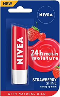 NIVEA Lip Balm, Fruity Strawberry Shine, 4.8g