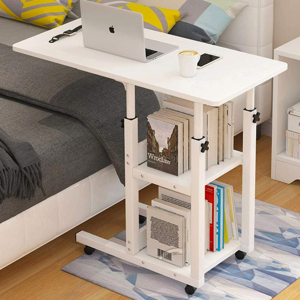 Iron Frame Fold Max 66% OFF Up NEW before selling Desk with White Adjustable Heig Density Board
