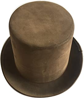 Brown Circus Faux Leather Steampunk Top Hat