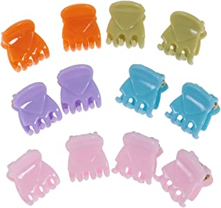 IPOTCH Lot Of 12Pcs Mini Claw Hair Barrette In Resin For Girl Female - 4, 4