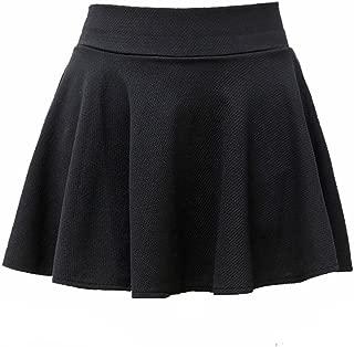SEUEYD Womens Basic Skater Skirt Versatile Stretchy Flared Casual Skort