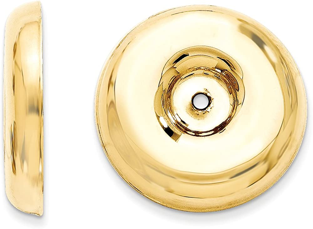 Finejewelers 14k Yellow Gold Polished Round Fancy Earring Jackets