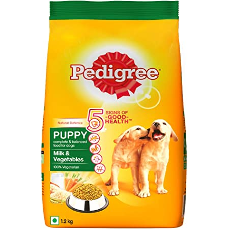 Pedigree Puppy Dry Dog Food, Milk & Vegetables, 1.2 kg 1.2kg Pack