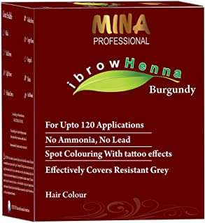 MINA Professional ibrow Henna Burgundy Refill Pack For Hair Coloring