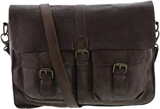 Renmark Washed Leather Messenger