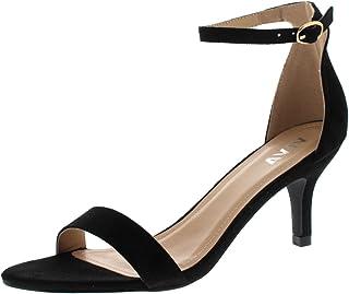 79c91778d922ea Mujer Bajo Gatito Talón Correa de Tobillo Ante Oficina Trabajo Noche Sandalia  Zapatos
