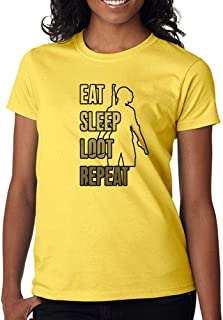 DanielDavis Gamer Fan Eat Sleep Loot Repeat Custom Made Women's T-Shirt