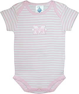 University of Michigan Wolverines Striped Baby Bodysuit