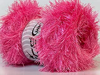LG 100 gram Candy Pink Eyelash Yarn Ice Fun Fur 164 Yards
