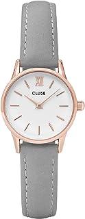 Cluse Women's La Vedette 24mm Leather Band Metal Case Quartz Dial Analog Watches Collection