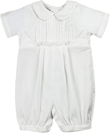 8552da9c2 Petit Ami Baby Boys' Pique Christening Knicker with Hat, White