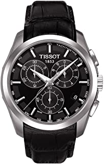 Tissot mens Couturier Chrono Quartz Stainless Steel Dress Watch Black T0356171605100