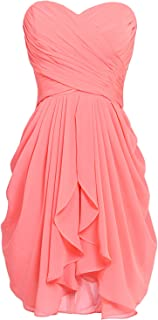 Best coral knee length bridesmaid dresses Reviews