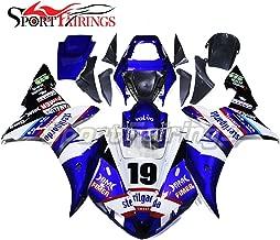 Sportbikefairings Full Fairing Kit For Yamaha YZF-1000 YZF R1 2002 2003 Year 02-03 Blue White Body Kit ABS Plastics Injection Covers