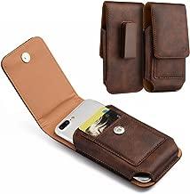 DW Brown Leather Belt Clip Holster Case w/ 2 Credit Cards Slot for Samsung Galaxy On5, S8 Active, J7, J7 Pro, J7 Sky Pro, J7 Refine, J7 V 2nd Gen, J7 Star, J7 Crown, J7 Perx, A6, A6s