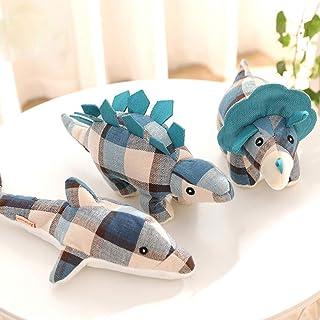 ペットの猫犬のおもちゃかみ噛む楽しいおもちゃをかむインタラクティブ犬のぬいぐるみ 恐竜 (A)