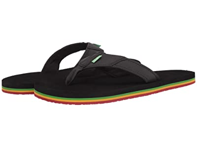 Sanuk Beer Cozy Stacker (Rasta) Men