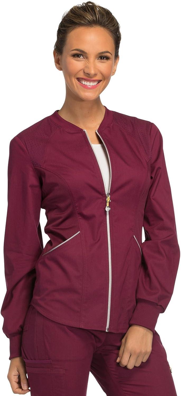Cherokee Womens Luxe Sport Zip Front Warmup Jacket Medical Scrubs Jacket