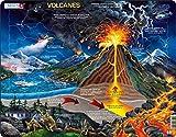 Larsen NB2 Volcanes, edición en Español, Puzzle de Marco con 70 Piezas