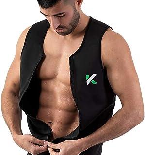 Kewlioo Men's Zipper Neoprene Sauna Vest