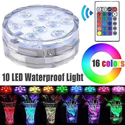 mallalah vase de plongée Source de lumière LED étanche piscine d'hydromassage piscine télécommande pistolet de poissons imperméable lumière de plongée lumière de couleurs lumières