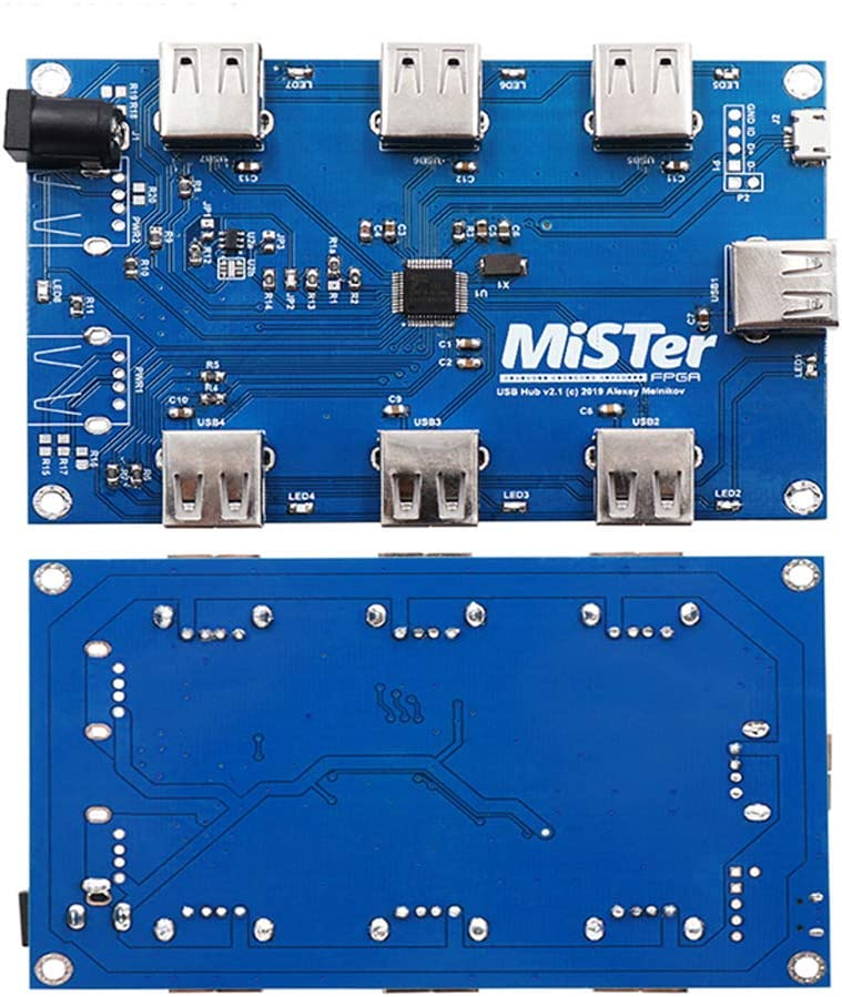 Manual Welding Mister USB Hub V2.1 Board for Mister FPGA 7 USB Ports Video Games Accessories Games and Accessories Game Gadgets Remote Control Gamepad Protective Cover