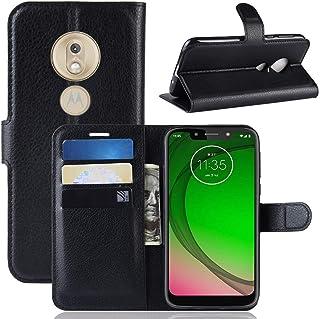 Capa Capinha Carteira Case 360 Para Motorola Moto G7 Play Com Tela De 5.7 Couro Sintético Flip Wallet Para Cartão - Danet...