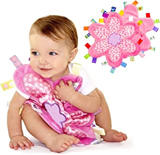 INCHANT Soft Touch Comforter Blanket with taggies - Tag Comforter/Comfort Blanket, Great Gift for Baby Toddler(Flower Tagg...