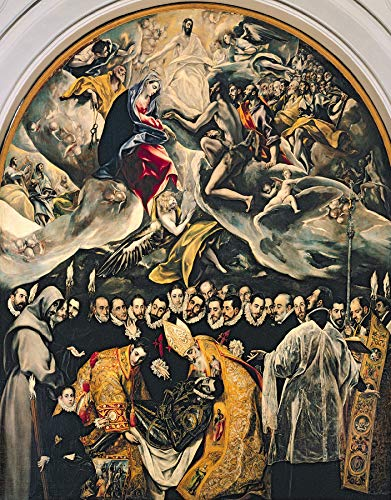 "El Greco The Burial of Count Orgaz, from a Legend of 1323 Toledo, s.Tome, Spain 30"" x 23"" Fine Art Giclee Canvas Print (Unframed) Reproduction -  Aenx"