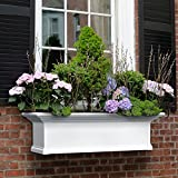 36 in. Yorkshire Window Box in White