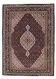 Nain Trading Indo Täbriz 237x172 Orientteppich Teppich Dunkelgrau/Dunkelbraun Handgeknüpft Indien