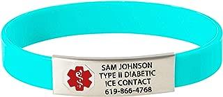 Divoti Custom Engraved Medical Alert Bracelets for Women/Men, Silicone Medical Bracelet, Medical ID Sport w/Free Engraving & Color Options - Red Caduceus