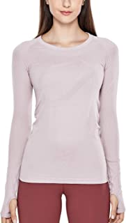 CRZ YOGA Women's Seamless Active Long Sleeve Workout Running Sports Leisure T-Shirt