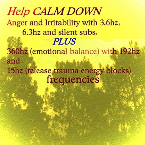 Help Calm Down Anger and Irritability 3 6hz 6 3hz and Silent Subs Plus 360hz Emotional Balance product image