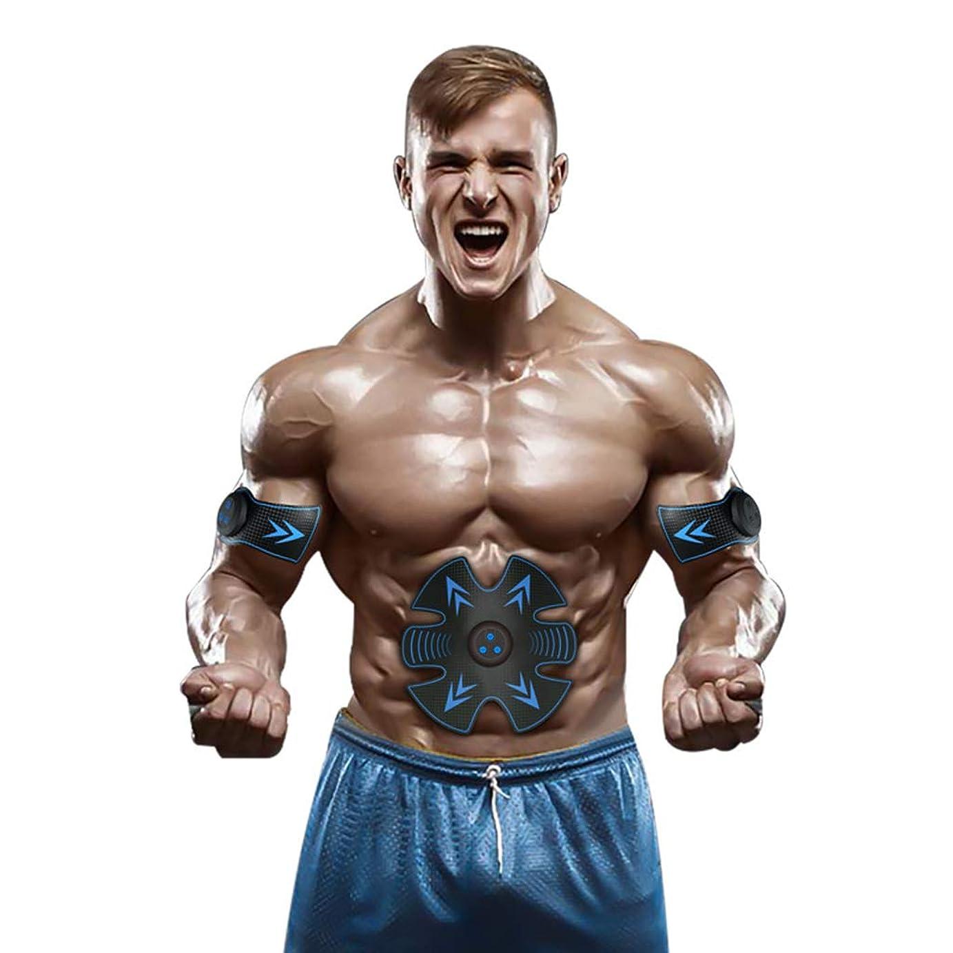 ハシーハイキング達成可能Ab調色ベルトウエストEMS Absトレーナー筋肉刺激装置腹筋トナーAbトナーフィットネストレーニングギアマシンホームインテリジェント筋肉トレーニングフィットネス機器筋肉腹部トレーナー (Color : BLUE, Size : 19*20CM)