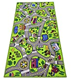 "Toyvelt Kids Carpet Playmat Car Rug – City Life Educational Road Traffic Carpet Multi Color Play Mat - Large 60"" X 32"" Best Kids Rugs for Playroom & Kid Bedroom – for Ages 3 - 12 Years Old"