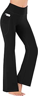 Heathyoga Women's Bootcut Yoga Pants with Pockets for Work & Casual,  High Waist Workout Bootleg Pants for Women Tummy Control