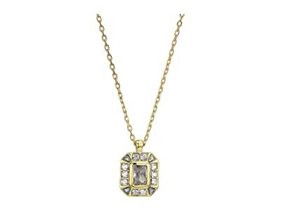 Vince Camuto 18 Asher Cut Pendant Necklace (Gold/Crystal) Necklace