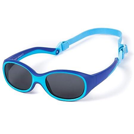 Kiddus Gafas de Sol SUPER FLEXIBLES de GOMA para Niño y Niña. A partir de 2 Años. Sin BPA. Irrompibles. Banda Ajustable y Extraíble. Protección UV400 contra Rayos UVA Y UVB. OUTDOOR