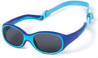 Kiddus - Gafas de Sol SUPER FLEXIBLES de GOMA para Niño y Niña. A partir de 2 Años. Sin BPA. Irrompibles. Banda Ajustable y Extraíble. Protección UV400 contra Rayos UVA Y UVB. OUTDOOR