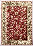 THEKO Alfombra clásica Ziegler roja 160 x 230 cm