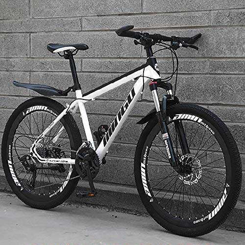 24 Inch Boys Mountain Bike,21-speed Geared Bicycle With Dual Disc Brakes & Fork Suspension,Black And...