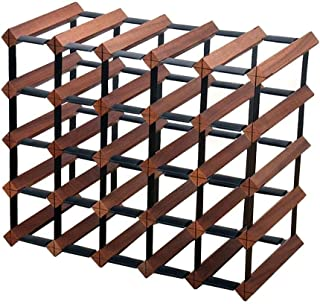 5 Tier Display Wine Holder - Household Wooden Wine Racks - Freestanding Storage Wine Rack - 25 Bottle Capacity (Size : 51x23.5x41.5cm)