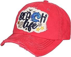 Beach Life Women's Vintage Cotton Baseball Hat