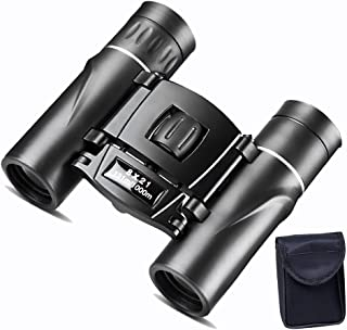Evursua Mini Binoculars for Adults and Kids,8x21 Compact Binoculars Waterproof for Bird Watching Outdoor,Pocket Size, with Carry Case