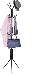 Carbon Metal Coat and Hat Standing Clothes Rack (Black)