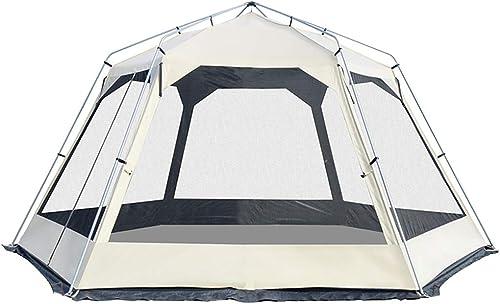 Tente de Festival pour 8 à 10 Personnes, Double Couche de Hauteur 2,3 m, Construction Rapide, Polyvalente, Tente de Camping étanche