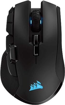 Corsair Ironclaw Wireless RGB - Ratón Recargable Óptico para Juegos con Tecnología Slipstream (18000 dpi Óptico Sensor, Retroiluminación LED RGB), Color Negro